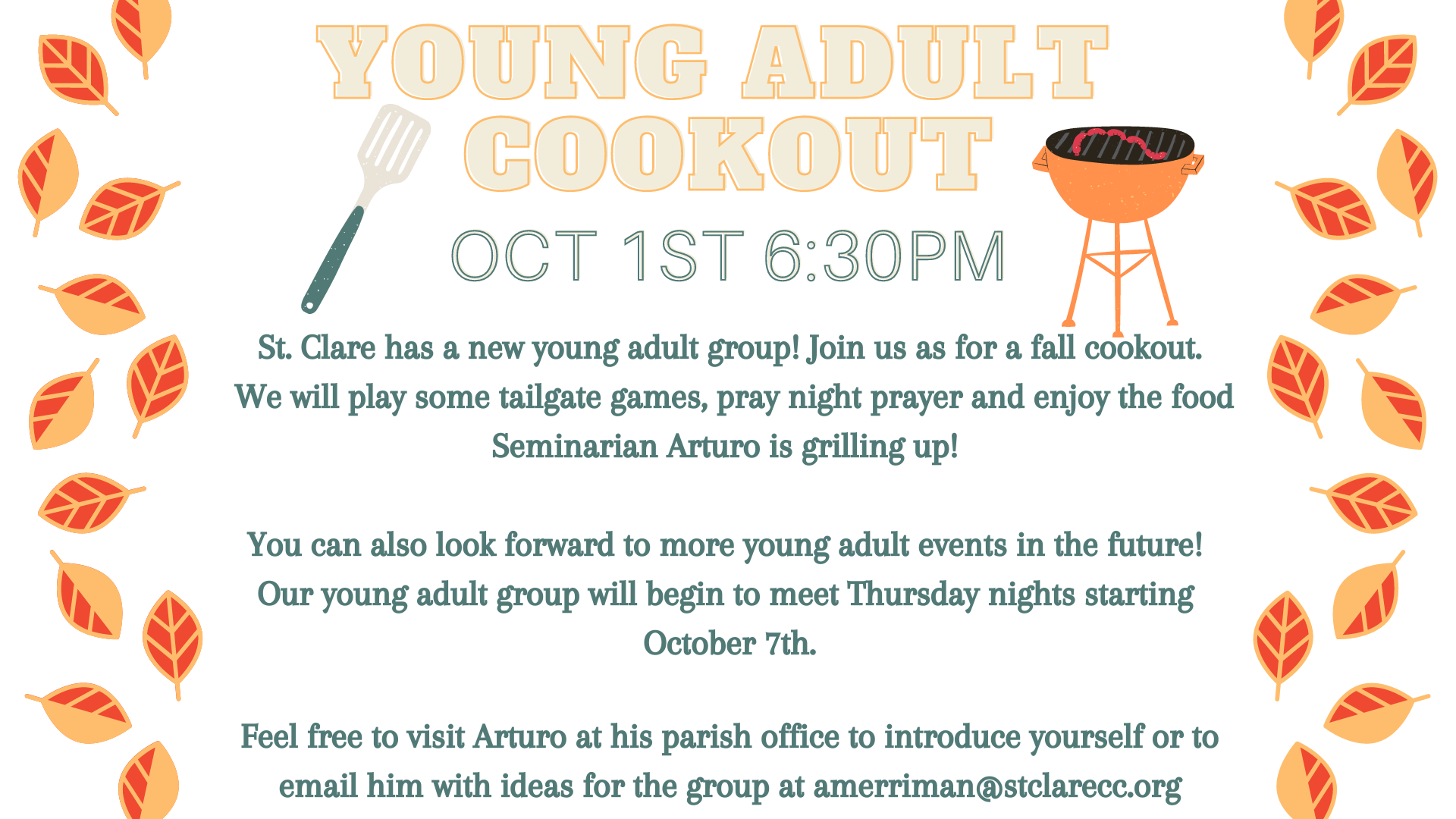 Young Adult Group Kick-off Cookout!